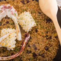 Paella de chipirones